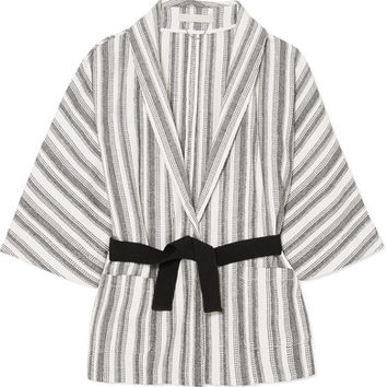 Vanessa Bruno - Iles belted striped cotton-canvas jacket