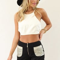 P x S Black and Gold Shorts | SABO SKIRT