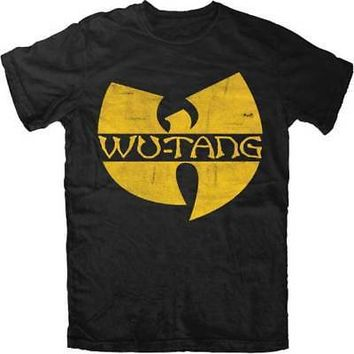 Wu-Tang Clan Classic W Logo Licensed Adult Unisex T-Shirt - Black / Yellow