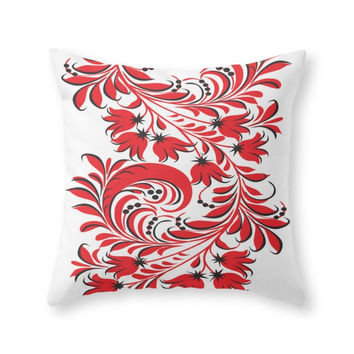 Society6 Russian Khokhlom Throw Pillow