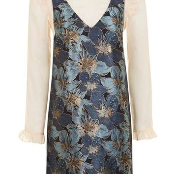 Jacquard Pinafore Dress - Dresses - Clothing