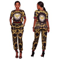 Gold and Black Two-Piece Retro Set