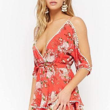 Floral Crepe Mini Dress