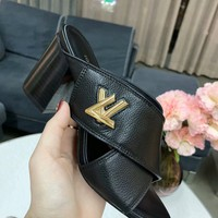 Louis Vuitton LV Flip Flop Sandal Women Slipper Black