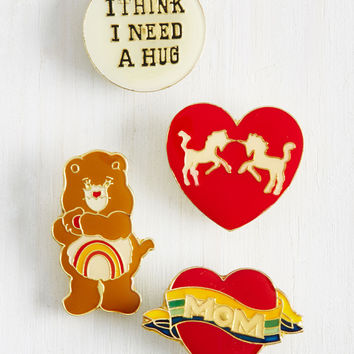 You're Getting Heartwarmer Pin Set | Mod Retro Vintage Pins | ModCloth.com