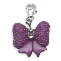 Mega Beggar Charms pendant Bow lilac and Strass #8917, extra large, handbag Charm | Phone Charm