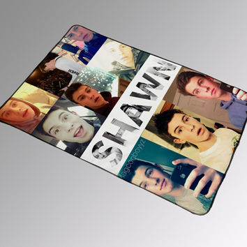 Shawn Mendes Magcon boy Collage Blanket Kids Woman Bedding Gift Birthdays Quilts