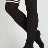 Athletic Fantastic Classic Thigh Highs in Black Size NS by ModCloth