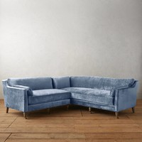 Slub Velvet Leonelle Left Sectional
