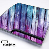 Pink & Blue Dyed Skin For The Playstation 3 Original and Slim Series