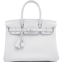 Hermes 30Cm Gris Perle Clemence Leather Birkin by Heritage Auctions Special Collections - Moda Operandi