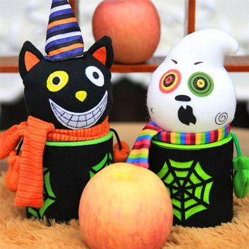 Creative halloween decoration Pumpkin Ghost Goody Bottle Case Candy Jar Household Home Decor Halloween party supplies PO25 #