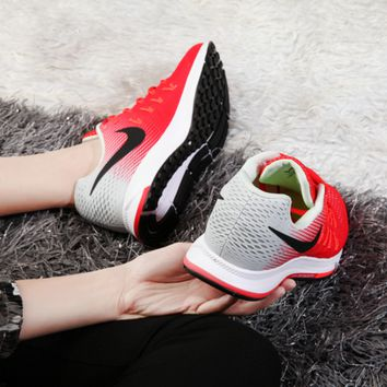 """NIKE"" Trending Fashion Casual Sports Shoes Red/Grey"