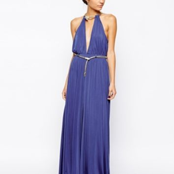 Forever Unique Destiny Maxi Dress - Cobalt blue