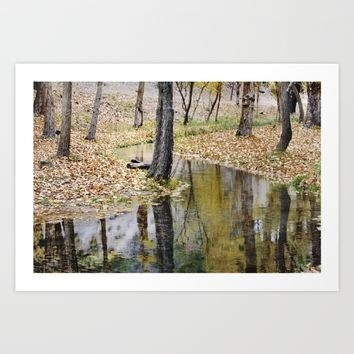 Cristal river. At the mountains. Art Print by Guido Montañés