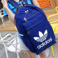 """Adidas"" Sport Travel Backpack College School Bag Laptop Bag Bookbag Blue"