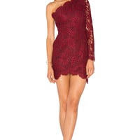 X by NBD Mia Dress in Bordeaux | REVOLVE