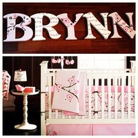 MIGI BLOSSOM INSPIRED HAND PAINTED WOOD WALL LETTERS