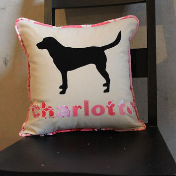 Perssonalized Animal Pet Pillow Cushion Cover Zipper Black Chocolate Lab