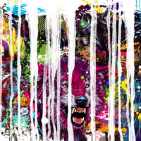 """Maxwell Dickson """"Wolf Pack"""" 3 Piece Graphic Art on Canvas"""