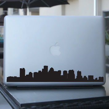 Boston Skyline Decal - For Car Windows,  Laptops, Walls etc.