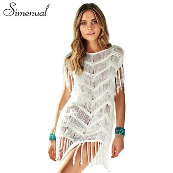 Summer Fringe Beach Dress