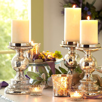 Mercury Glass Candleholders