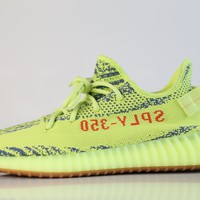 BC KUYOU Adidas Yeezy by Kanye West Boost 350 V2 Yebra Semi Frozen Yellow Raw Steel Red B37572 (NO Codes)