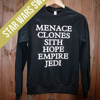 Unisex Star Wars sweater - Choose Size - MADE TO ORDER - American Apparel