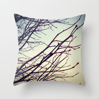 Bare Winter Tree Throw Pillow by Laura L. A.