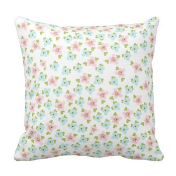 Cute,small,floral,pattern,trendy,girly,country,fun Throw Pillows
