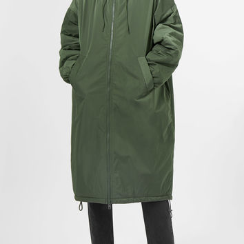 Petronella Parka Coat - Green - Jackets & coats - Weekday GB