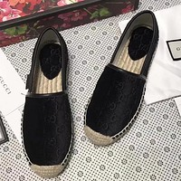 GUCCI Women Velvet Fashion Espadrilles Flats Shoes