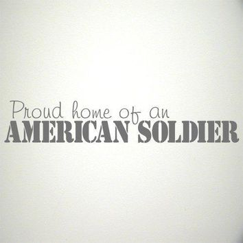 American Soldier wall decal