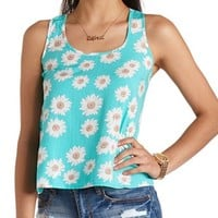 Daisy Print Swing Tank Top