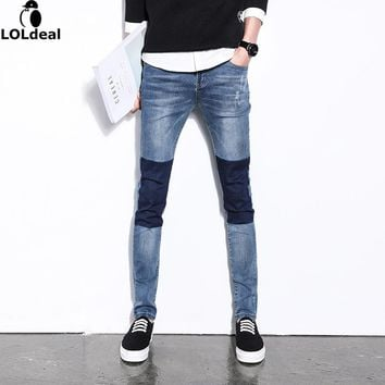 Men's Straight Fit Jeans male Plus Size Big Size Elastic Waist Jeans Thickening Large Skinny Trousers Denim Jeans