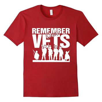 Memorial Day Shirts- Remember Our Veteran T-shirt- Army Tees