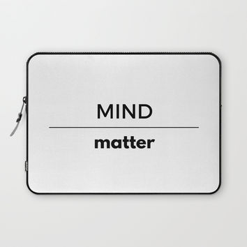 MIND OVER MATTER Laptop Sleeve by Love from Sophie