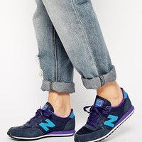 New Balance 410 Suede Mix Navy & Purple Sneakers