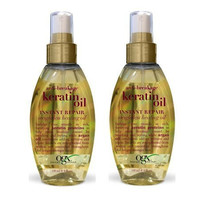 OGX Anti-Breakage Keratin Oil Instant Repair Weightless Healing Oil (4 Ounce)- Pack of 2
