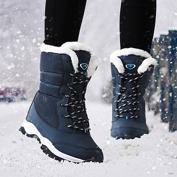 Women Boots Waterproof Winter Shoes Women Snow Boots Platform Keep Warm Ankle Winter Boots With Thick Fur Heels Botas Mujer 2018