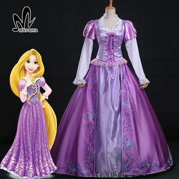 Halloween costumes for women adult dress Rapunzel dress Rapunzel Tangled Costume adult Rapunzel Tangled cosplay costume custom