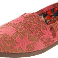 Skechers Women`s Bobs-Sunflower Slip-On,Coral,9 M US