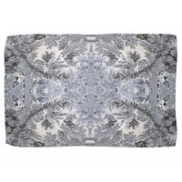 Winter Frost Ice Crystal Pattern Kitchen Towel