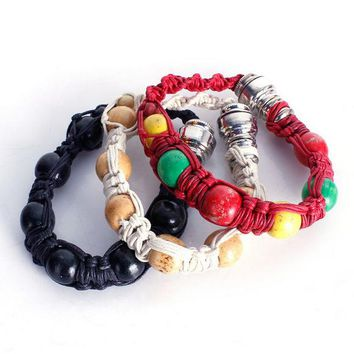 2017 New Portable Metal Bracelet Smoke Smoking Pipe Jamaica Rasta Weed Pipe 3 Colors Gift for both man and women