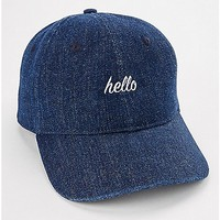 Hello Denim Dad Hat - Spencer's