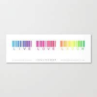barcode of love Stretched Canvas by Steffi ~ findsFUNDSTUECKE
