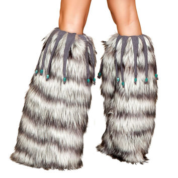 LW4427 Leg Warmers with Beaded Fringe