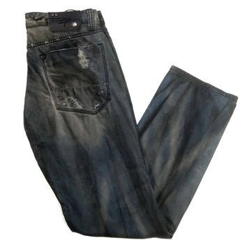 Level 7 LV-155504 Men Ripped Distressed Cotton Jeans
