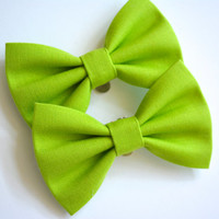 Shoe Clips - Shoe and Boot fabric Bow clips apple green, Shoe clips, Boot clips, Bow shoe clip, Bow boot clip